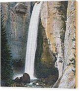 Tower Falls Yellowstone National Park Wood Print