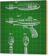 Toy Ray Gun Patent 1952 - Green Wood Print