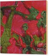 Toy Soldiers In A Pool Of Blood Wood Print