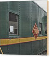 Tpw Rr Caboose Side View Wood Print