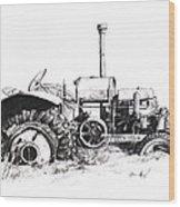 Tractor Wood Print