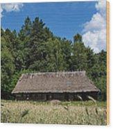 Traditional Polish Cottage House Wood Print
