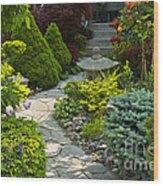 Tranquil Garden  Wood Print