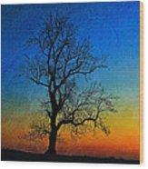 Tree Skeleton Wood Print