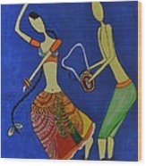 Tribal Dance From India Wood Print by Shruti Prasad