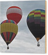 Trio Of Balloons  Wood Print