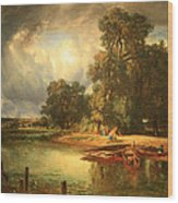Troyon's The Approaching Storm Wood Print