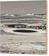 Desert Golf Wood Print