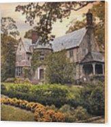 Tudor In Autumn Wood Print