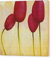 Tulips Are People Xv Wood Print