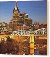 Twilight Over Nashville Tennessee Wood Print by Brian Jannsen