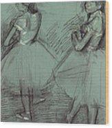 Two Dancers Wood Print