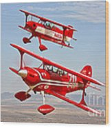 Two Pitts Special S-2a Aerobatic Wood Print