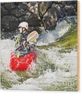 Two Whitewater Kayaks Wood Print