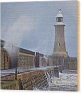 Tynemouth Pier Wood Print