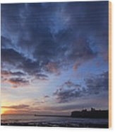 Tynemouth Sunrise Wood Print