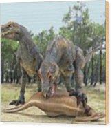 Tyrannosaurus Rex Dinosaurs Wood Print