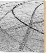 Tyre Tracks Wood Print