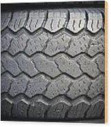 Tyre Tread Wood Print