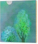 unbordered DREAM TREES AT TWILIGHT Wood Print