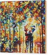Under One Umbrella Wood Print
