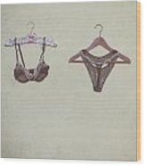 Underwear Wood Print by Joana Kruse