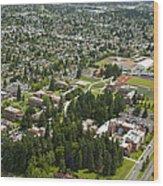 University Of Puget Sound U.p.s., Tacoma Wood Print