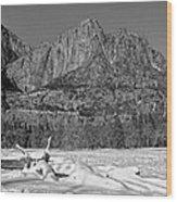 Snowy Yosemite Wood Print
