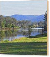 Up Brisbane River Wood Print