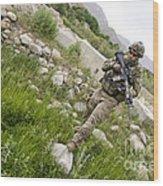 U.s. Army Specialist Walks Wood Print