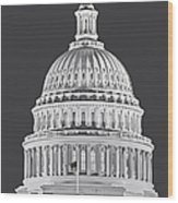 Us Capitol Dome Wood Print
