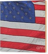 Us Flag On Memorial Day Wood Print