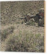 U.s. Soldiers Provide Security Wood Print