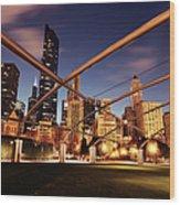 Usa, Illinois, Chicago, Cityscape Wood Print