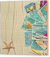 Vacation Postcards Wood Print