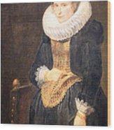 Van Dyck's Portrait Of A Flemish Lady Wood Print