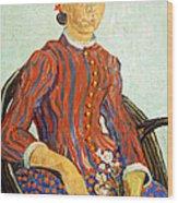 Van Gogh's La Mousme Wood Print