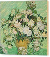 Van Gogh's Roses Wood Print