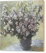Vase Of Flowers Wood Print by Claude Monet