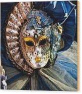Venice Carnival Mask Wood Print