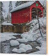 Vermonts Moseley Covered Bridge Wood Print