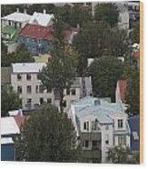 View Of Reykjavik Iceland Wood Print