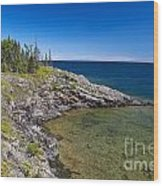 View Of Rock Harbor And Lake Superior Isle Royale National Park Wood Print