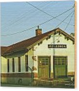 Villisca Train Depot Wood Print