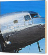 Vintage Airplane Wood Print