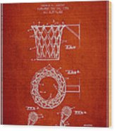 Vintage Basketball Goal Patent From 1951 Wood Print by Aged Pixel
