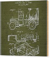 Vintage Military Vehicle Patent From 1942 Wood Print