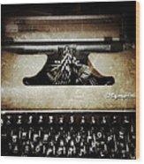 Vintage Olympia Typewriter Wood Print