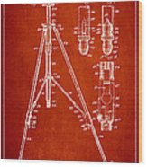 Vintage Tripod Patent Drawing From 1941 Wood Print by Aged Pixel