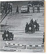 Volkspolice Tried To Hinder The American Traffic In Berlin Wood Print